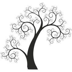 Vinilo decorativo arbol entrelazado sin hojas