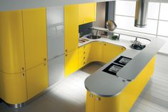 Кухня желтого цвета подарит вам солнце и хорошее настроение.