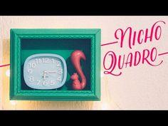Como fazer um nicho moldura fácil e barato - #VEDA05 - DIY - Decoração - YouTube