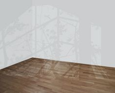Mary Temple – Artwork    Using latex paint on existing walls and floors, artist Mary Temple gives the illusion of light coming from a window into a room.
