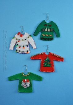 What? An ugly sweater ornament? Of course! For the past decade or so, ugly sweater parties have become all the rage.