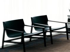 Tanned leather armchair with armrests SDRAIO by Living Divani | design Piero Lissoni