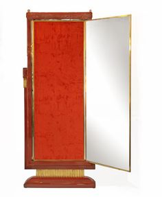 French Art Deco Lacquered Three Panel Floor Mirror Miroir Brot ...