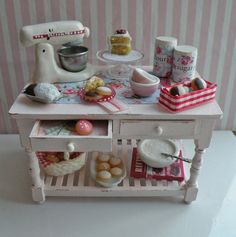 Image detail for -Miniature Bakery Table - RESERVED for Kimberly- Titled - Homemakers ...