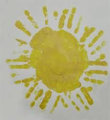"""Sun Art:  I think I will have the class work in cooperative groups to make a """"shared"""" sun--rather than each child making his/her own."""