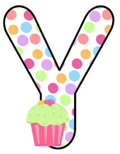 Abecedario con Lunares de Colores y Cupcakes. Alphabet with Colored Polka Dots and Cupcakes. 2nd Birthday, Birthday Cards, Maya, Abc For Kids, Picture Letters, Letter Balloons, Love You More Than, Letter K, Letter Board