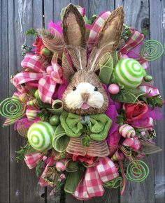 Reserved Easter Wreath Bunny Wreath Easter Swag by BaBamWreaths