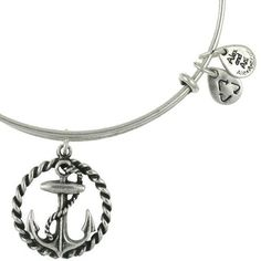 Alex and Ani Nautical Expandable Wire Bangle Russian Silver