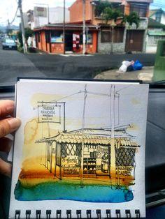 Monday Sketchtrip: Tibas, Costa Rica