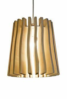 "Our wooden lamp called ""Wellamo"". Finnish birch."