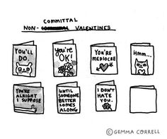 Valentines for the non-committal type people