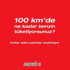 100 km'de ne kadar benzin tüketiyorsunuz? Motor adını yazmayı unutmayın!