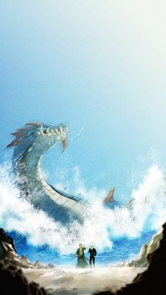 "I can see this being an epic fight < Roronoa Zoro & Sanji vs Lagiacrus ""King of the Sea"""
