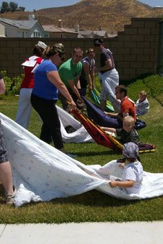 Blanket Run | 27 Insanely Fun Outdoor Games You'll Want To Play All Summer Long