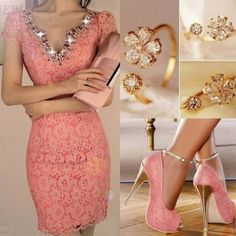 Fashionable Pink Ankle Wrap Platform Peep-Toe Stiletto Heels Prom Shoes