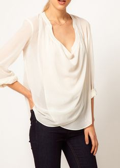 sheer white blouse