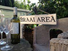 Vintage Braai Area Sign