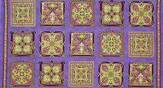 Art Nouveau Purple Robert Kaufman Grandeur by lucyintheskyquilts