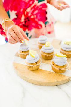Lavender Sweet Tea Cupcakes