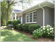 A Ranch Redo Painted Brick Exteriors House
