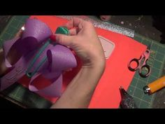 Monogramming hair bows with iron on letters - YouTube