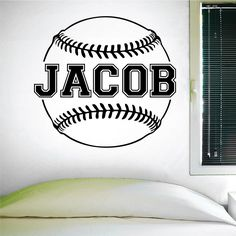Custom Baseball Name Wall Decal, 0124, Personalized Baseball Name Wall Decal, Girls Softball, Boys Baseball, Custom Name. A great wall decal for your nephew, grandson or boy's birthday. This decal has several color options and sizes. All wall decals are made after you order your product. They are cut on vinyl made for interior walls only. Mostly installed on clean smooth walls but can also be installed on semi textured or tile walls as well. Be sure if applying to a textured wall to heat…