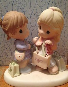 "Precious Moments ""I Get by with A Little Shopping with My Friends"" Figurine 