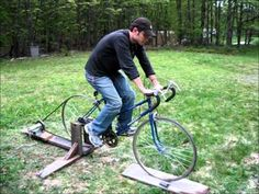 DIY Homemade Bicycle Generator - people power for off grid living. http://www.thediyworld.com/DIY-Bicycle-Powered-Generator.php#