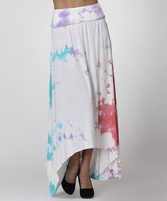 Another great find on #zulily! Pale Lavender & Blue Tie-Dye Ruched Convertible Hi-Low Dress by CottyOn #zulilyfinds