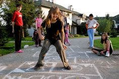 La marelle au village d'enfants SOS de Lekenik / SOS Villages d'Enfants Croatie / Crédit : Katerina Ilievska