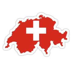 'Switzerland Flag Map' Sticker by limitlezz Minecraft Banner Designs, Minecraft Banners, Map Of Switzerland, Swiss Flag, Flag Icon, Flag Art, Image Fun, Instagram Highlight Icons, Stickers