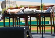 Lying down haha