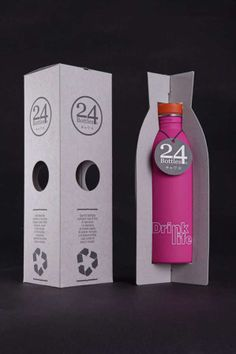 Cardboard-Finned Cartons - 24Bottles Packaging Emphasizes its Recycled Material to Send a Message (GALLERY)