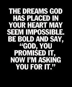 Pray bold prayers!
