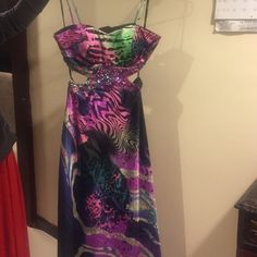 Long color dress bake shows Long wedding party dress in a good condition size 6 Dresses