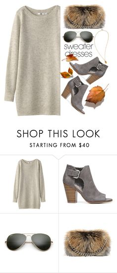 """Cute & Cozy"" by youaresofashion ❤ liked on Polyvore featuring Uniqlo, Fergie, Ray-Ban, Alexander McQueen, Alex and Ani and sweaterdresses"