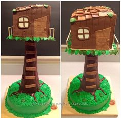 Cool Tree House Cake for the Kid in All of Us... Coolest Birthday Cake Ideas
