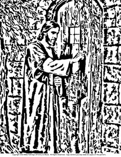 Jesus of Nazareth - Knocking scroll saw pattern from www.mike fehring.com