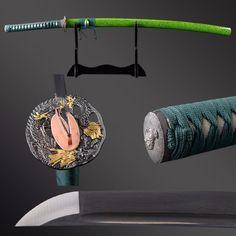 Katana Swords, Samurai Swords, Anime Weapons, Fantasy Weapons, Aesthetic Japan, Red Aesthetic, Sakura Blossom Japan, Cherry Blossom Drawing, Japanese Sword