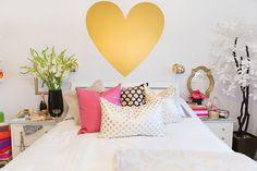 SS Print Shop's Stephanie Sterjovski at Home | The Everygirl // gold, white, pink decor