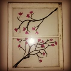 Paint on old window