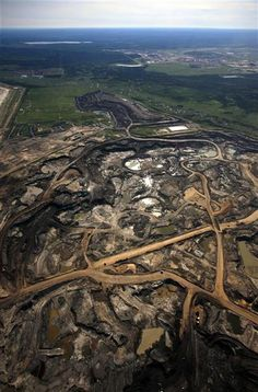 Besides tragic scarring of the land, something's WRONG w/ 'Tar Sands' interpretation. They call themselves Ethical Oil, claiming China pollutes more than they do. They claim to emit 45 MT GHG per yr - nowhere near Sierra Club's estimates of their emissions: http://www.sierraclub.ca/en/tar-sands/publications/tar-sands-and-global-warming http://www.ethicaloil.org/news/myth-busting-are-greenhouse-gas-emissions-from-the-oilsands-ruining-the-atmosphere/ or The Canada Emissions Trends 2012 Report.