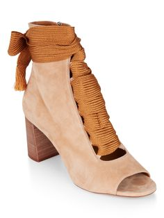 Chloé Harper Open-Toe Lace-Up Boots Image 1