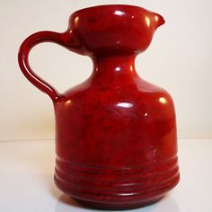 West German Pottery Studio Vase • Hoy Keramik • mid 20th century • modernism