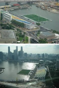 10 Awesome Floating Attractions - ODDEE Floating Stadium (Singapore)