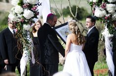 Clean and elegant: A modern Jewish wedding chuppah ceremony held in #colorado.