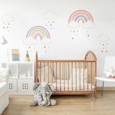 Over the Rainbow Wall Sticker. Over the Rainbow Wall Sticker Girl Bedroom Walls, Nursery Room, Girl Room, Girl Nursery Art, Baby Room Wall Decor, Baby Wall Art, Rainbow Bedroom, Rainbow Room Kids, Rainbow Nursery Decor