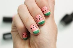 Yummy Watermelon Nails in 4 Simple Steps | Wonder Forest: Design Your Life.