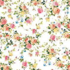 Papel de Parede Floral Cores Delicadas