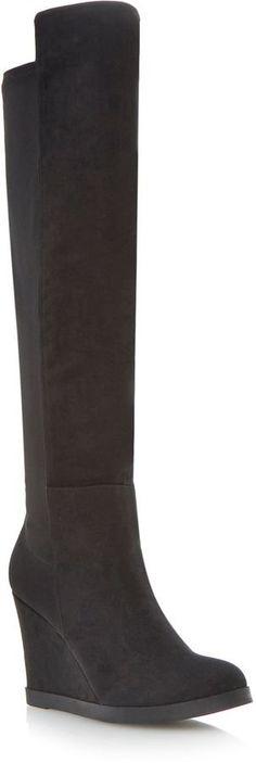 """Pin for Later: Ein Paar dieser Schuhe bringt euch stylisch durch den ganzen Winter  Head Over Heels """"Safiya"""" Over the Knee Stiefel mit Wedge-Absatz (102 €)"""